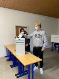 Juniorwahl Stimmabgabe 2