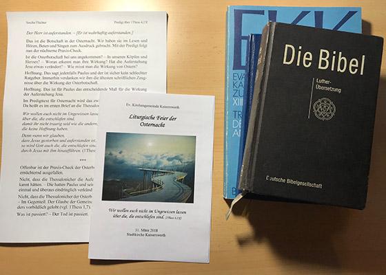bibel und weitere buecher im tfg